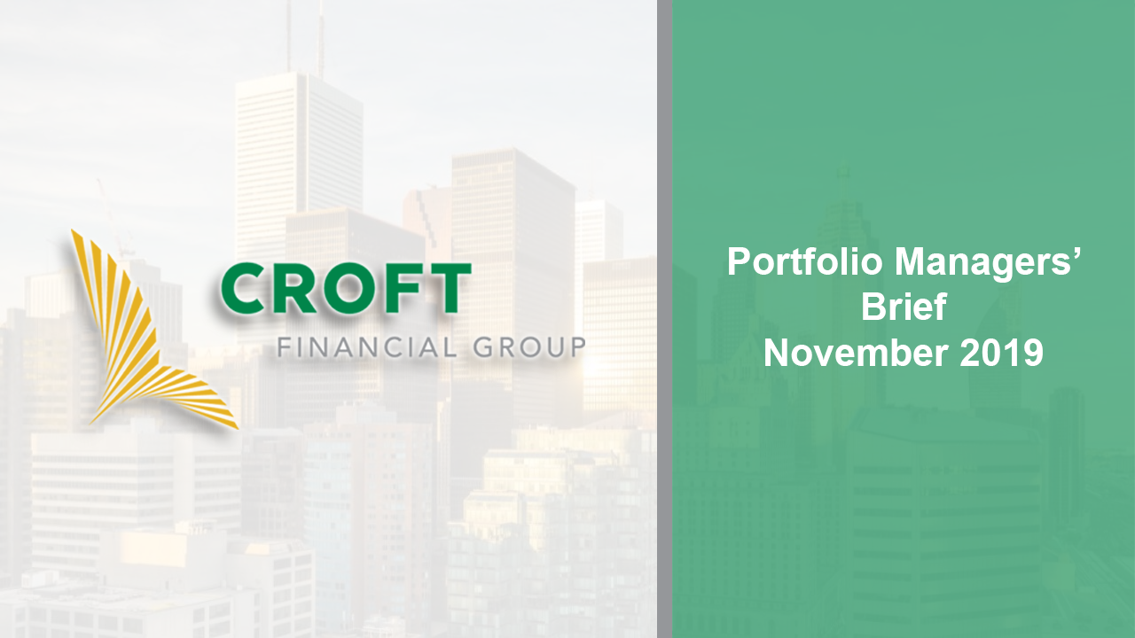 Portfolio Managers Brief -- November 2019