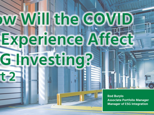 how will the covid-19 affect esg investing